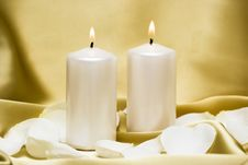 Free Candles With Flower Royalty Free Stock Photography - 5219217