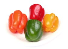 Free Four Colorful Peppers 2 Stock Images - 5219334