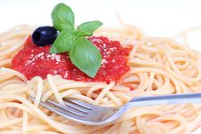 Free Pasta With Tomato Sauce Royalty Free Stock Image - 5219366