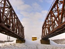 Free The  Bridge In Vinter Stock Photos - 5219473