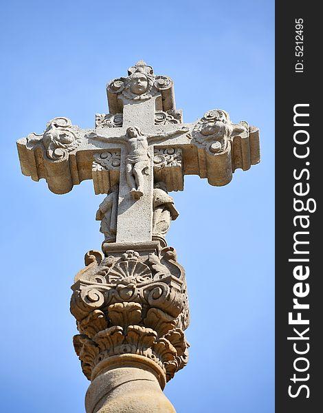 Christ on cross. Barcelona, Spain