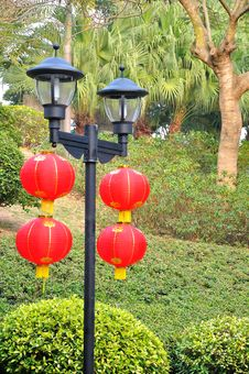 Free Red Lanterns Royalty Free Stock Photo - 52153775