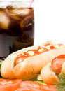 Free Hot Dogs With Vegetables Royalty Free Stock Image - 5220576
