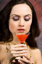 Free Woman With Glass Of Wine Royalty Free Stock Images - 5220939