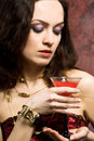 Free Woman With Glass Of Wine Stock Photos - 5220973