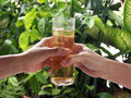 Free Handing Beer Royalty Free Stock Photo - 5225085