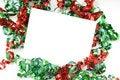 Free Christmas Bow Notecard Royalty Free Stock Photo - 5228535