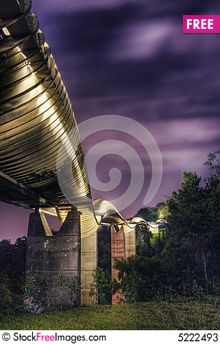 Free Bridge In Singapore : Henderson Waves Stock Photos - 5222493