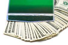 Many Money In Green Box Royalty Free Stock Photography