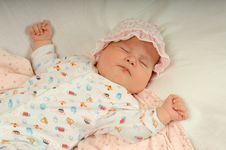 Free Little Baby Sleeping Stock Image - 5220471