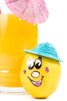 Free Cheerful Little Men From A Fresh Lemon Stock Photo - 5220490