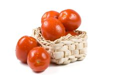 Free Fresh Tomatoes With Waterdrops. Royalty Free Stock Photo - 5220625