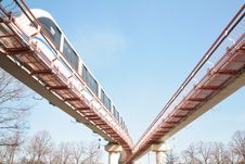 Free Monorail Road Stock Image - 5220651