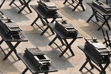 Free Symmetry In Chairs And Tables Stock Image - 5221331