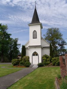 Free White Church Royalty Free Stock Image - 5221376