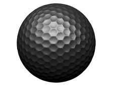 Isolated Blakc Golf Ball Stock Photos