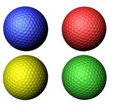 Colored Golf Balls Royalty Free Stock Photos