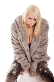 Free Sexy Babe In Fur Royalty Free Stock Photography - 5221907