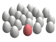 3D Eggs Stock Photos