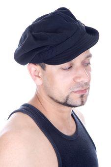 Free Man Wearing Cap Stock Image - 5222591