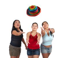 Free Three Playful Young Women Royalty Free Stock Photo - 5222655
