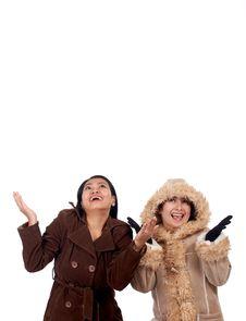 Free Women In Wintercoat Stock Photography - 5222692