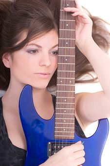 Free Lady With A Guitar Stock Image - 5223241
