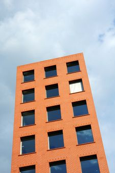 Free Orange Building Against Sky Stock Image - 5223281