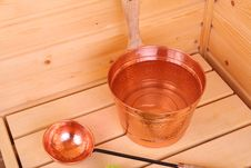 Free Bucket With Water In Sauna Stock Photo - 5223450