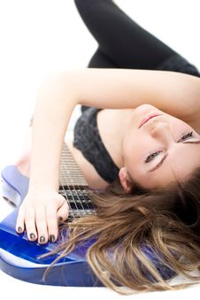 Free Lady With A Guitar Stock Photos - 5223623