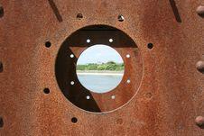 Free Rusty Porthole Sharp Stock Image - 5224121