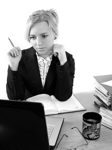 Free Businesswoman In Office Stock Images - 5225474