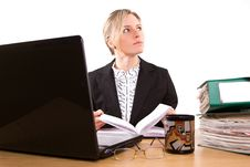 Free Businesswoman In Office Royalty Free Stock Image - 5225496