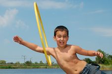 Free Boy With A Hoop Stock Photography - 5225862