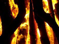 Free Burning Wood Stock Photography - 5226482
