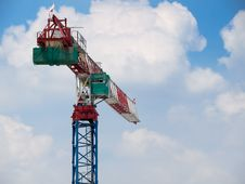 Tower Crane Operator Ascending Stock Images