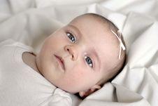 Free Baby On White Blanket Stock Photos - 5227513