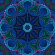 Free Blue Compass Mandala Royalty Free Stock Photography - 5227527