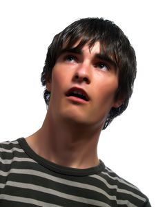 Free Cute Young Man Is Surprised Royalty Free Stock Images - 5227549