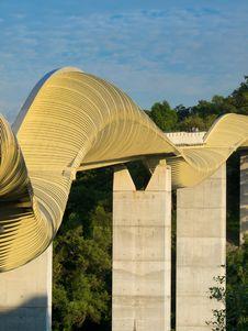 Free Bridge Across High Valley Stock Image - 5228001