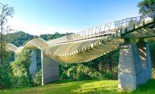 Free Bridge Across High Valley Royalty Free Stock Photo - 5228035