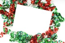 Free Christmas Bow Notecard Royalty Free Stock Photo - 5228535