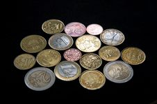 Free A Lot Of Metal Euros Stock Images - 5229734
