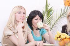 Free Girlfriends Drinking Coffee And Having Fun Stock Photos - 5229803