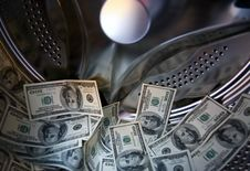 Free Bank Of Dollars In Washing Machine Royalty Free Stock Photography - 5229957