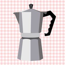 Free Italian Steel Geyser Coffee Maker Stock Photos - 52212353