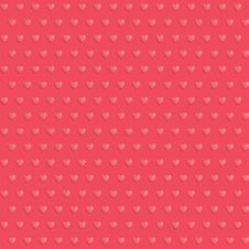 Free Seamless Hearts Polka Dot Red Pattern Stock Photo - 52212380
