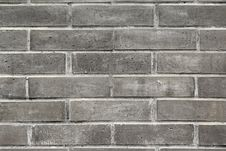 Close-up Of The Small Black Bricks Royalty Free Stock Photography