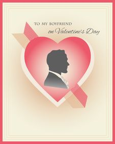 Free Valentine S Day Card Template Stock Image - 52240781