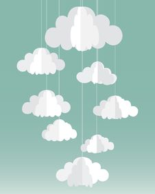 Free Vector Paper Clouds Card Stock Image - 52240791